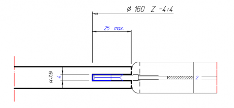 Thin Adjustable Groover Tool Drawings